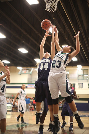 Hendrickson's Taryn Skahill takes a shot against McNeil Monday at  McNeil High School.