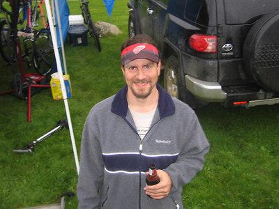 Adam with pre-race nutrition (8:30 a.m.)