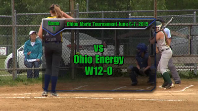 Sundogs June 6-7, 2015 Chloe Marie Tournament Game 1 vs Ohio Energy W12-0