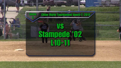 Sundogs June 6-7, 2015 Chloe Marie Tournament Game 4 vs Stampede L10-11