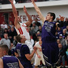 Firelands guard Dominic Januzzi shoots over Turner Campbell of Keystone during the first quarter. Randy Meyers -- The Morning Journal
