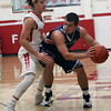 Brody Kuhl of Keystone is guarded closely by Patrick Brightbill of Firelands during the second quarter. Randy Meyers -- The Morning Journal