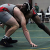 Elyria's Cam King has a hold advantage on Tyler Stein of Canfield during a consolation match at the Walsh Ironman. Randy Meyers -- The Morning Journal