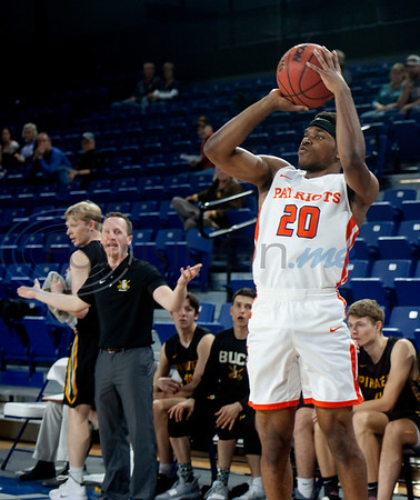 University of Texas at Tyler's Darius Alford shoots a basket as the Patriots play Southwestern University at home on Tuesday Dec. 18, 2018.   (Sarah A. Miller/Tyler Morning Telegraph)