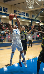 John Tyler's Alyssa Mayfield shoots a basket over Lufkin's Ivey Massle in their game Friday night Jan. 22, 2016 at home.  (Sarah A. Miller/Tyler Morning Telegraph)