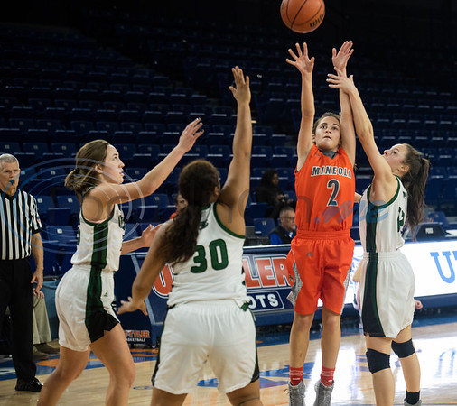 Mineola's Meghan Brewington (2) makes a shot during their basketball game against Canton in the Macy Chenevert Patriot Holiday Classic on Friday Dec. 28, 2018.  (Sarah A. Miller/Tyler Morning Telegraph)