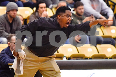 An All Saints coach shouts during the Wagstaff Holiday Classic at Tyler Junior College in Tyler, Texas, on Friday, Dec. 29, 2017. (Chelsea Purgahn/Tyler Morning Telegraph)