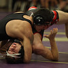 Kyle Hieb of Firelands is pinned by Micheal Tackett of Clearview during the 170-pound match. Randy Meyers -- The Morning Journal