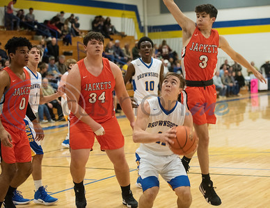 Brownsboro's Cole Williams (11) keeps his eyes on the basket as the Bears play Elysian Fields in the Great East Texas Shootout in Brownsboro on Thursday Dec. 6, 2018.   (Sarah A. Miller/Tyler Morning Telegraph)