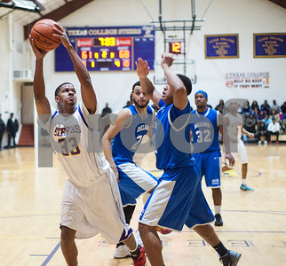 Texas College's Ryan Steward keeps his eyes on the net during their basketball game against Dillard University Wednesday night Jan. 27, 2016 at Gus F. Taylor Gymnasium.  (Sarah A. Miller/Tyler Morning Telegraph)