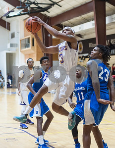 Texas College's Demarcus Bowie shoots the ball during their basketball game against Dillard University Wednesday night Jan. 27, 2016 at Gus F. Taylor Gymnasium.  (Sarah A. Miller/Tyler Morning Telegraph)