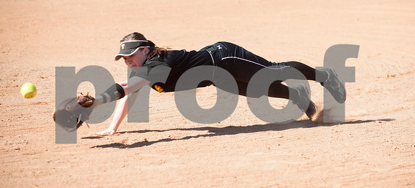 Tyler Junior College softball player Lauren Becker dives for the ball during their media day Wednesday Jan. 27, 2016 at Faulkner Park in Tyler.  (Sarah A. Miller/Tyler Morning Telegraph)