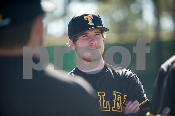 Tyler Junior College baseball player Nathan Methvin arrives at media day at Mike Carter Field in Tyler.  (Sarah A. Miller/Tyler Morning Telegraph)