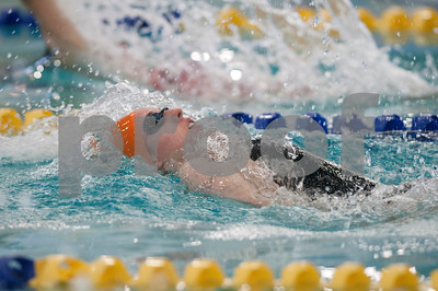 Brook Hill's Bailey Bickerstaff competes in the women's 100 yard backstroke during the TAPPS North Region Championships Friday Jan. 29, 2016 held at Mansfield ISD Natatorium.  (Sarah A. Miller/Tyler Morning Telegraph)