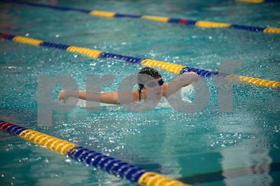Bishop Thomas K. Gorman's Clarissa Abella swims the women's 200 yard individual medley at the TAPPS North Region Championships Friday Jan. 29, 2016 held at Mansfield ISD Natatorium.  (Sarah A. Miller/Tyler Morning Telegraph)