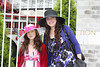 Alana Galloway and Nikki Klarberg outside the 135 Kentucky Derby.