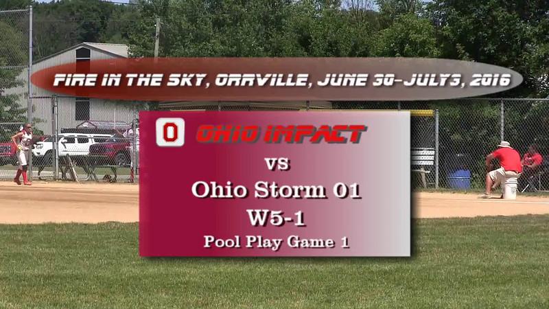 Pool Play Game 1 vs Ohio Storm 01