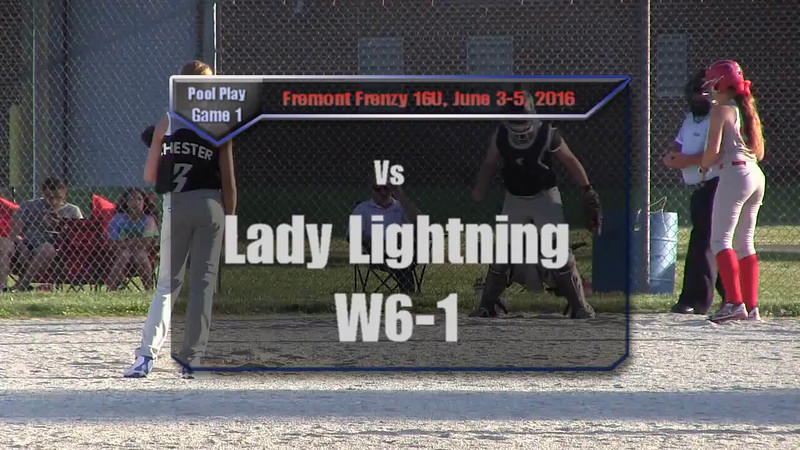 Fremont Frenzy Pool Play Game 1 vs Lady Lightning W6-1