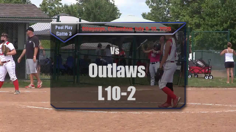 Pool Play Game 3 vs Outlaws L10-2