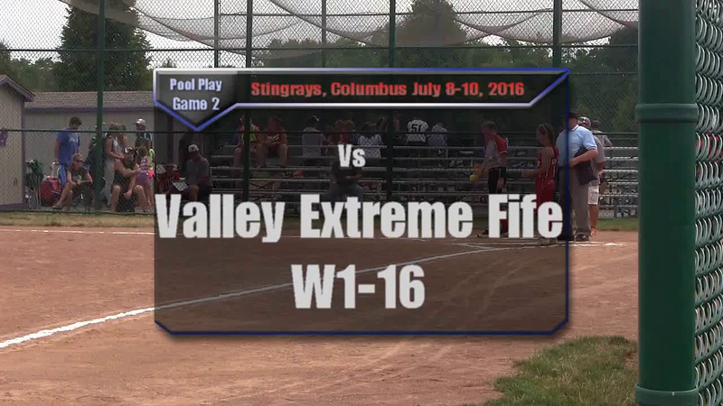 Pool Play Game 2 vs Valley Extreme Fife W1-16
