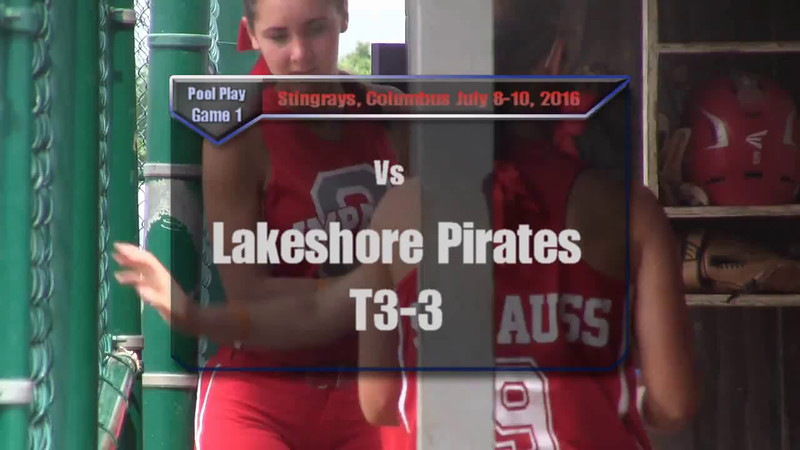 Stingrays, Pool Play Game 1 vs Lakeshore Pirates T3-3