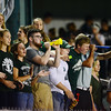 Laurel student celebrate their team at the first game of the season.