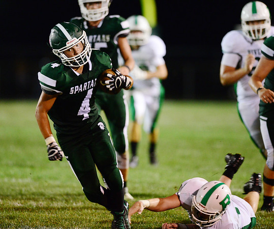 Laurel's Jesse Pacifico returns a kickoff in the second half of the game.