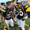 Wilmington's Matt Jamison gives a pep talk to Isiah Gargiulo in the first half of the game.