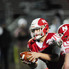 Neshannock's quarterback Frank Antuono hands the ball off.