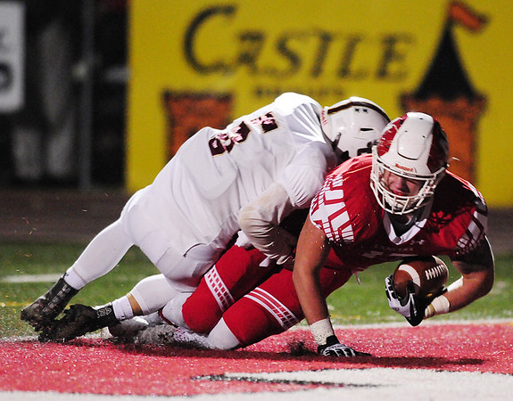 Neshannock's Ty Sear crosses the goal line.