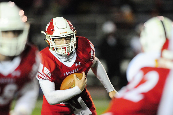 Neshannock's Frank Antuono carries the ball.