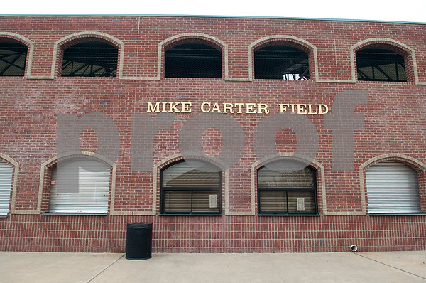 The concession and bleachers area of Mike Carter Field is pictured Wednesday Jan. 6, 2016. Mike Carter Field is the home baseball field Robert E. Lee and John Tyler High Schools as well as Tyler Junior College.   (Sarah A. Miller/Tyler Morning Telegraph)