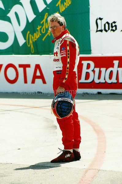 Paul Tracy after crash with Gil de Ferran - 1995 Long Beach GP