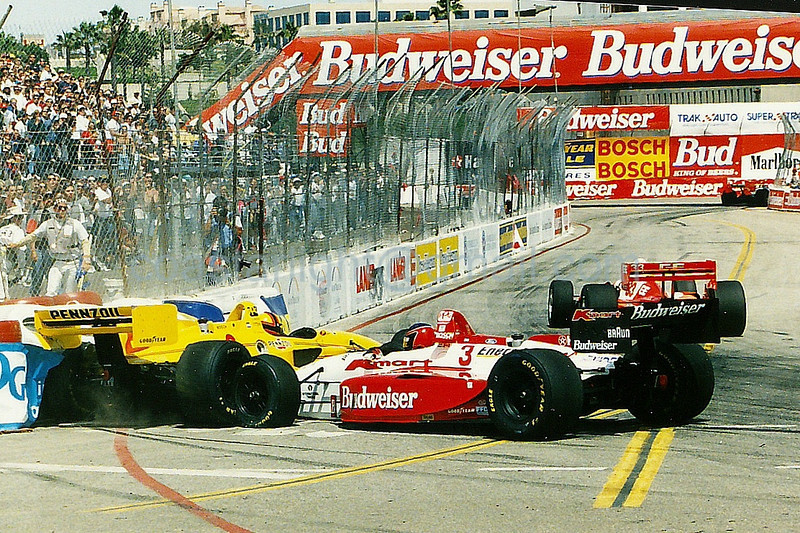 Gil de Ferran, Paul Tracy - Crash 1995 Long Beach GP