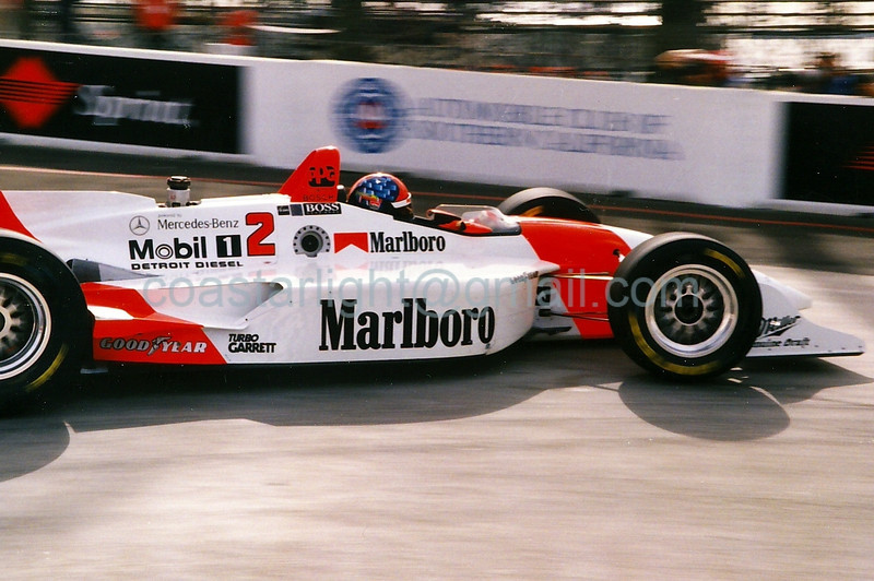 Emerson Fittipaldi - 1995 Long Beach GP, hairpin
