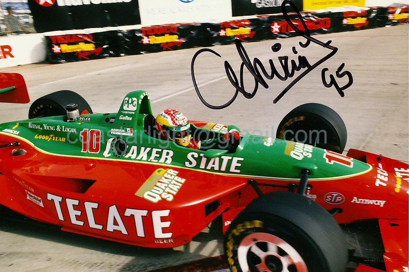 Autographed Adrian Fernandez - 1995 Long Beach Grand Prix, hairpin