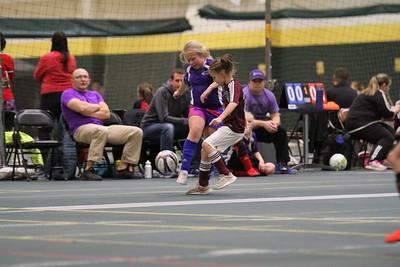 2-23-18 indoor soccer under-10 girls BF Lightning vs BHR