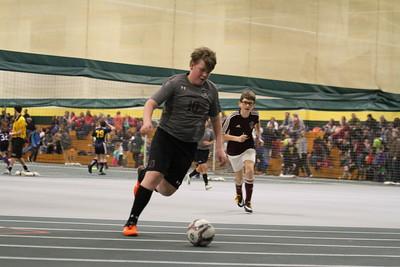 2-23-18 indoor soccer under-14 boys Spearfish Slammers vs BHR