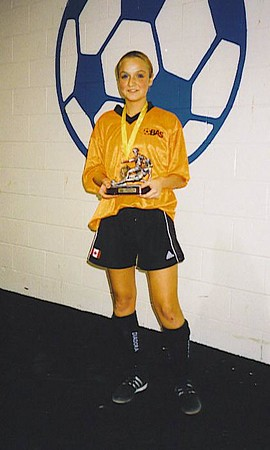 FALL INDOOR CHAMPIONSHIP GIRL-OF-THE-GAME - Lisa Felice (ORANGE CRUSH)