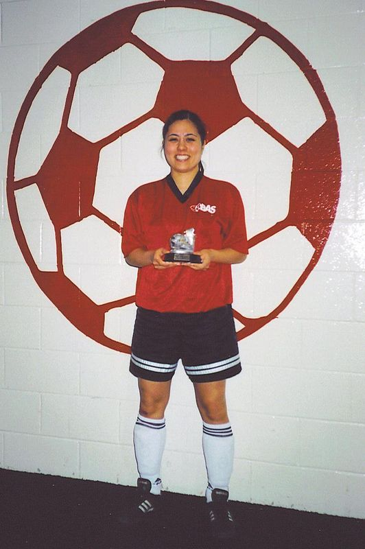 WINTER INDOOR SCORING CHAMPION - Stephanie Kishimoto (RED HEAT) - 15 goals