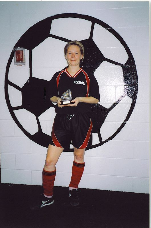 FALL INDOOR DIVISION I SCORING CHAMPION - Jennifer Smith (UNITED BLACK DEVILS) - 12 goals