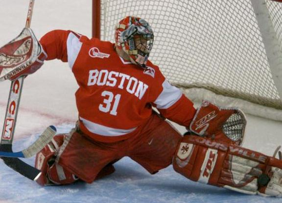 Sean Fields makes one of his 50 saves here