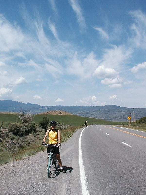 Day 2: Nida climbing toward Gunnison