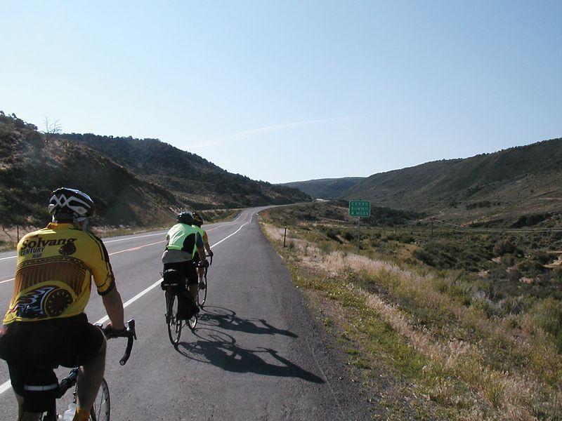 Day 2: Heading up to Cerro Summit toward Gunnison - into a headwind.