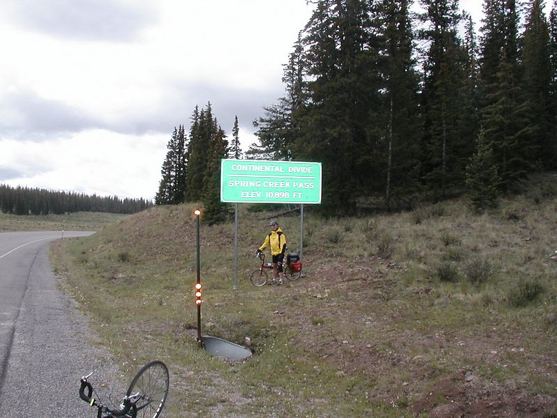 Day 4: Ken at Spring Creek Pass (10.901 feet, and the Continental Divide.