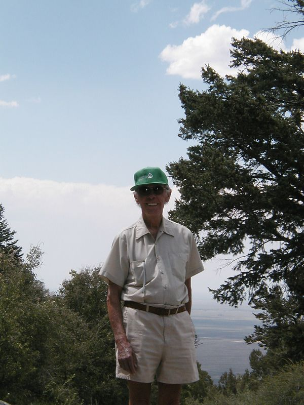 Day 7: Walter at Zapata Falls, overlooking the San Luis Valley.