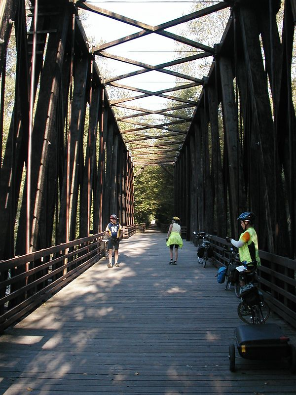 Aug. 15 COVERED BRIDGE ON THE RAILS-TO-TRAILS BIKE PATH: Poulsbo to Sequim