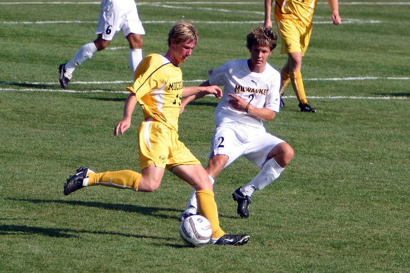 Soccer Exhibition: University of Michigan at University of Wisconsin-Milwaukee, Engelmann Field; 3-1, UWM