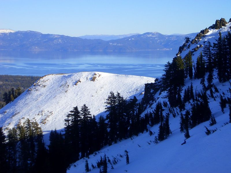 lake tahoe from the top of alpine meadows