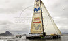 Yacht Movistar sails during the start of the leg 5 of 2005-2006 Volvo Ocean Race on Guanabara bay; on the background is the Sugar loaf,  Rio de Janeiro, Brazil, April 2, 2006.  (FOTO:AUSTRAL FOTO/RENZO GOSTOLI)